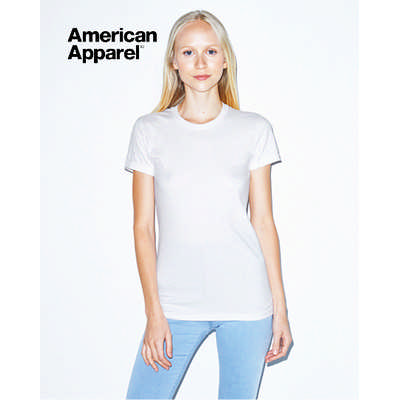 American Apparel Womens Fine Jersey Short Sleeve Tee White